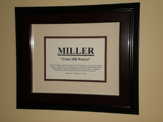 last name plaque